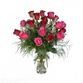 Le bouquet de 18 roses assorties