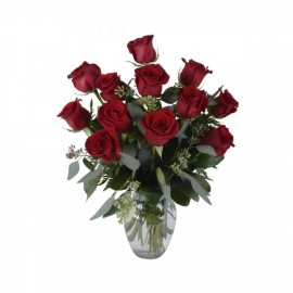 Le bouquet de 12 roses rouges